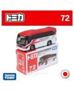 Tomica Diecast Model Car No72 - Hino Selega JR Tohoku SPR Komachi Cloro Bus