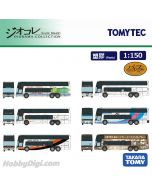 TOMYTEC Diorama Collection 1:150 模型車 - 三菱Fuso Aero King Collection DP-BOX 一套六架