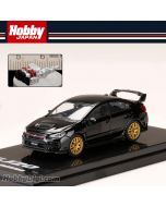 Hobby JAPAN 合金車 - 1/64 SUBARU WRX STI EJ20 Final Edition with EJ20 Engine Display Model Black