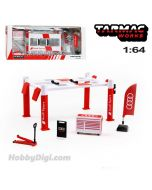 Tarmac Works PARTS64 1:64 合金模型配件 - Garage tools set Audi Sport