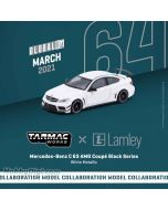 Tarmac Works GLOBAL64 1:64 合金模型車 - Mercedes-Benz C63 AMG Coupe Black Series, White Metallic