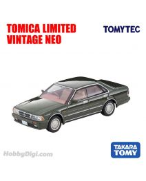 TOMYTEC Tomica Limited Vintage NEO Diecast Model Car - LV-N233a Nissan Gloria 4-door HT V20 Twin Cam Turbo Gran Turismo Super SV 88 Year (Green)