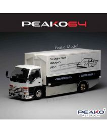 Peako Peako64 1:64 Diecast Model Car - Y.E.S. Semi Wide Wng Custom Truck, White