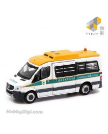 Tiny City 1:76 Diecast Model Car 22 - MERCEDES-BENZ Sprinter FL Hong Kong Customs