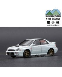 BM Creations Junior 1:64 Diecast Model Car - Subaru 2001 Impreza WRX, White (Left Hand Drive)