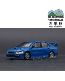 BM Creations Junior 1:64 Diecast Model Car - Mitsubishi Lancer Evolution VII, Blue (Right Hand Drive)