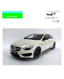 GT SPIRIT X Route Twisk 1:18 Resin Model Car - Mercedes Benz CLA45 AMG Diamond White