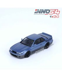 INNO64 1:64 合金模型車 - NISSAN SILVIA S13 PANEM ROCKET BUNNY V1 Two-Tones Blue/Grey Metallic