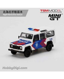 TSM 1:64 Mini GT 限定版合金車 - Land Rover Defender 110 Korlantas (Indonesia National Traffic Police) EMS Exclusive