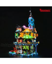 Briksmax Light Kit For LEGO Ninjago 71741 : City Gardens