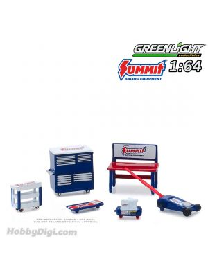Greenlight 1:64 Diecast Model Car Accessories - Muscle Shop Tools Summit Racing Equipment (Hobby Exclusive)