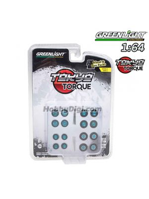 Greenlight 1:64 Limited Diecast Model Car Accessories - Auto Body Shop - Wheel & Tire Packs Series 2 - Tokyo Torque #2 Solid Pack