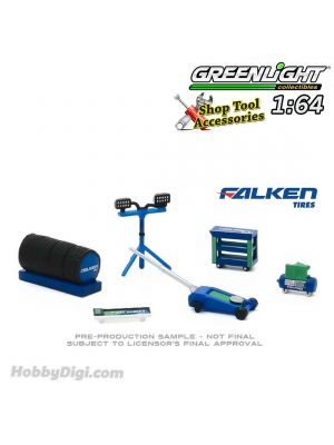 Greenlight 1:64 合金車配件 - Auto Body Shop - Shop Tool Accessories Series 3 - Falken Tires Solid Pack