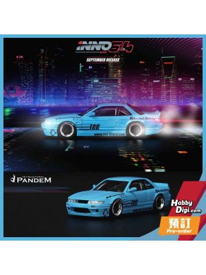 INNO64 1:64 Diecast Model Car - NISSAN SILVIA S13 ROCKET BUNNY V1 Light Blue