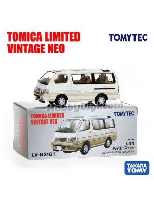 TOMYTEC Tomica Limited Vintage NEO 合金車 - LV-N216a Toyota Hiace Wagon Living Saloon EX 2002 (White /Beige)