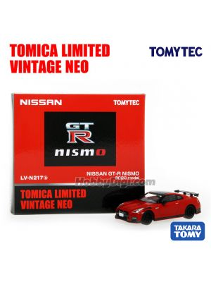 TOMYTEC Tomica Limited Vintage NEO Diecast Model Car - LV-N217b NISSAN GT-R NISMO 2020 Model (Red)