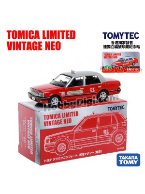 TOMYTEC Tomica Limited Vintage NEO Hong Kong Exclusive Diecast Model Car - LV-N TOYOTA CROWN COMFORT HK TAXI CITY RED