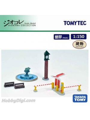 TOMYTEC Diorama Collection 1:150 Scenery Collection - 012-3 Station Front Park A4