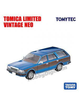 TOMYTEC Tomica Limited Vintage NEO Diecast Model Car - LV-N244a Nissan Gloria Wagon GL (Blue / Wood) Custom Specifications
