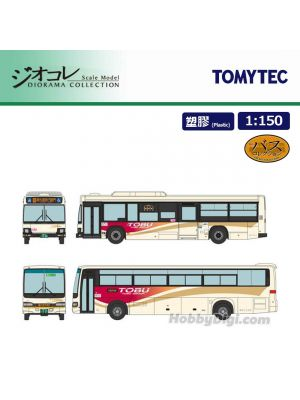 TOMYTEC Diorama Collection 1:150 Model Car - 17 TOBU Bus Nikko Nikko・Tyuzenjiko・Yumoto Onsen