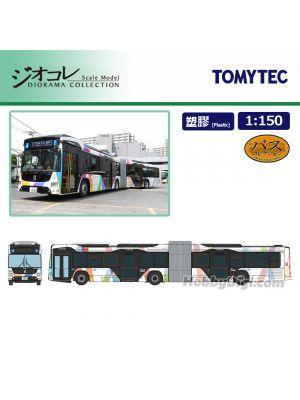 TOMYTEC Diorama Collection 1:150 Diecast Model Car - Keisei Bus Tokyo BRT Articulated Bus