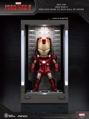 Beast Kingdom Marvel Mini Egg Attack Action MEA-015 - Iron Man 3 Iron Man Mark VII with Hall of Armor