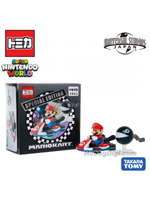 Tomica Universal Studios Japan Limited Diecast Model Car - Super Nintendo World Mario Kart Special Edition Mario & Chain Chomp
