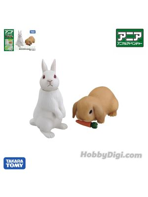Takara Tomy Ania Figure - AS-34 Rabbit (with Carrot)