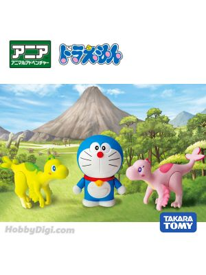 Takara Tomy Doraemon Ania Action Figure Set F:  Doraemon & Cew & Mew (Early Childhood)