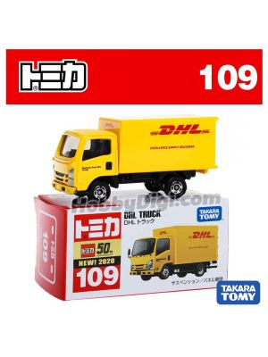[2020 Sticker] Tomica Diecast Model Car No109 - DHL Truck