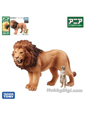 Takara Tomy Ania Figure - AS - 01 Lion (with Suricata)