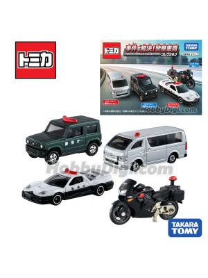 Tomica Diecast Model Gift Set - Police Vehicle Collection Car Set of 3