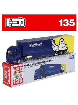 [2019 Sticker] Tomica Diecast Model Car No135 - Michelin Motorsport Transporter