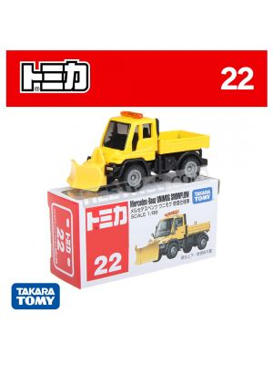 Tomica Diecast Model Car No22 - Mercedes-Benz UNIMOG Snowplow