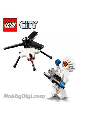 LEGO Loose Decoration and Minifigure City: Drone with Spinning Rotor and Drone Engineer