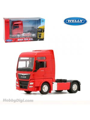 Welly 1:64 Diecast Model Car - MAN TGX Red