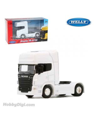 Welly 1:64 Diecast Model Car - Scania V8 R730 White