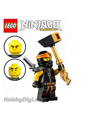 LEGO 散裝人仔 Ninjago: Cole with gold-colored hammer and silver-colored katana