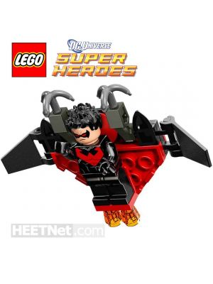 LEGO Loose Minifigure DC Comics: Nightwing - Red Eye Holes and Chest