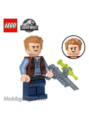 LEGO Loose Minifigure Jurassic World: Owen Grady with tranquilizer gun