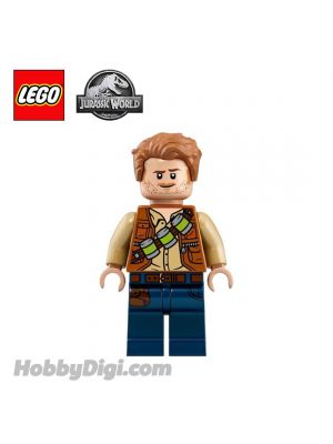 LEGO Loose Minifigure Jurassic World : Owen Grady with Lime Canisters