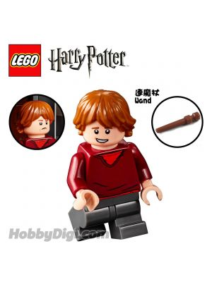 LEGO Loose Minifigure Harry Potter: Ron Weasley with Red Sweater