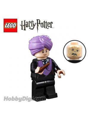 LEGO Loose Minifigure Harry Potter: Professor Quirrell with dual Lord Voldemort face and Wand