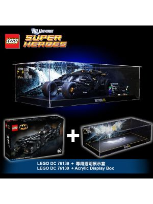 LEGO DC Comics Super Heroes 76139 : 1989 Batmobile + Acrylic Display Box