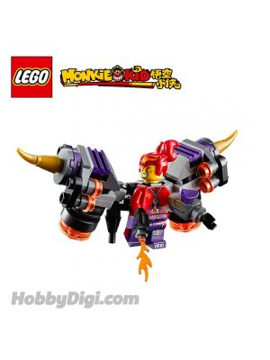 LEGO Loose Decoration and Minifigure Monkie Kid : Red Sun and Twin Fire Jet Pack