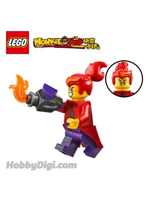 LEGO Loose Machine and Minifigure Monkie Kid : Red Son and Detachable Race Car