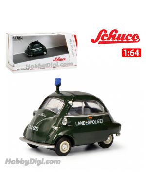 Schuco 1:64 合金車 - BMW Isetta Police Car