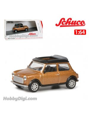 Schuco 1:64 合金車 - Mini Cooper Brown Met.