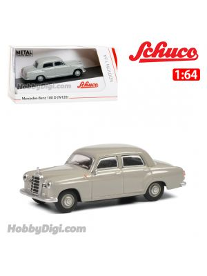 Schuco 1:64 合金車 - Mercedes-Benz 180 D Ponton Grey