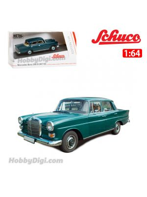 Schuco 1:64 合金車 - Mercedes-Benz 200 D, Dark Green